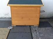 Cat Kennel with Cat flap for sale.